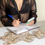 Square photo of Girl accountant Royalty Free Stock Photography