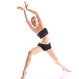 Square photo of isolated on white background ballerina in traini Stock Photo