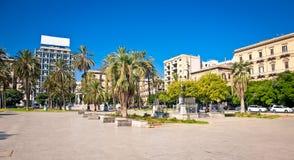 Square Piazza Castelnuovo at suny day Palermo, Italy. Square Piazza Castelnuovo at suny day Palermo, Sicily, Italy Stock Photo