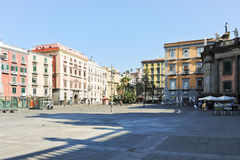 Square Piazza Dante Alighieri in Naples, Italy Stock Images