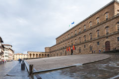 Square Piazza Pitti with Palazzo Pitti in Florence Stock Photos