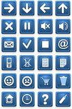Square pictograms of blue color Stock Images