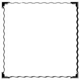 Square picture corner frame Royalty Free Stock Images