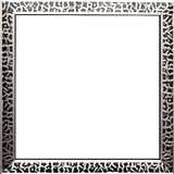 Square picture frame stock photography