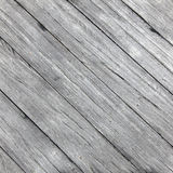 Square picture of old rough gray wooden planks diagonally placed Stock Photo