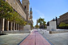 Square of the Pillar in Saragossa Royalty Free Stock Images