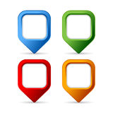 Square pin buttons Royalty Free Stock Photos