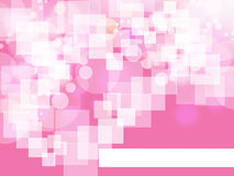 Square on pink background Stock Images