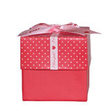 Square Pink Gift Box Isolated stock photo