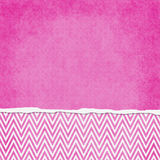 Square Pink and White Zigzag Chevron Torn Grunge Textured Background. With copy space at top royalty free stock photos
