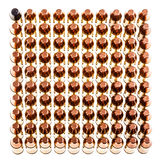 Square of pistol bullets Stock Images