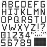Square Pixel Font Stock Photo