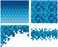 Square pixel mosaic background Stock Images