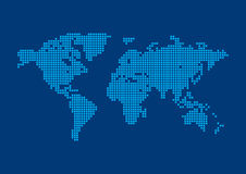 Square Pixel World Map Background. Royalty Free Illustration