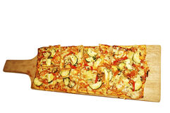 Square pizza. Picture of square pizza ready to eat Royalty Free Stock Image