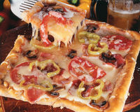 Square Pizza. royalty free stock image