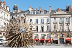 Square Place du Bouffay in Nantes, Frankreich Stockbilder