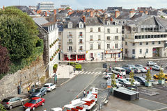 Square Place du President Kennedy in Angers Stock Afbeelding