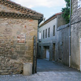 square Place Saint Nazaire in Carcassonne city Royalty Free Stock Photos