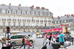 Square Place Saint Pierre in Nantes, France Royalty Free Stock Photos