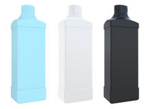 Square plastic bottle with a cover Royalty Free Stock Image