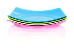 Square plastic dish Royalty Free Stock Photos