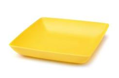 Square plastic plate Stock Image