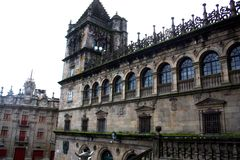 Square of the Plateria, Santiago de Compostela royalty free stock photography