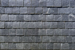 Square plates of a black fragile stone Stock Photo