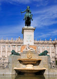 Plaza de Oriente, Madrid, Spain Stock Photos