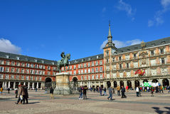 Square Plaza Mayor, Madrid Stock Photos