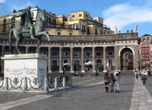 Square of the plebiscite naples campania Italy europe Royalty Free Stock Photo