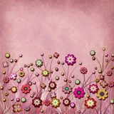 Square plum floral card Stock Photos