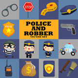 Square police and robber Royalty Free Stock Image