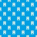 Square post box pattern seamless blue Royalty Free Stock Photo