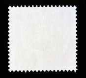 Square postal stamp shape. In White on black background Royalty Free Stock Photos