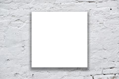 Square Poster hanging on the art gallery wall Stock Photography