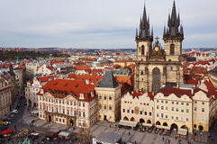 Square in Prague. Look from the tower Stock Photo