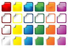 Square promo stickers Royalty Free Stock Image