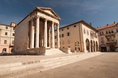 The square in Pula Royalty Free Stock Photography