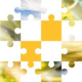 Square puzzle royalty free illustration