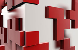 Square puzzle abstract cube Royalty Free Stock Images