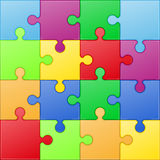Square puzzle vector illustration Stock Images
