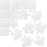 Square puzzle vector illustration Royalty Free Stock Image