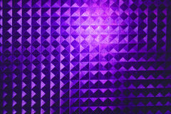 Square pyramidal purple stripped pattern texture illuminated neon plastic glow Royalty Free Stock Images