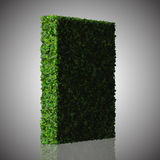 Square, quadrangle made from green leaves  on white background. 3D render. Royalty Free Stock Photo