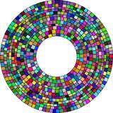 Square radial mosaic vector illustration