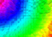 Square rainbow Royalty Free Stock Photography