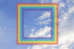 Square rainbow on the sky Stock Photography