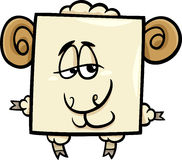 Square ram cartoon illustration Stock Photo